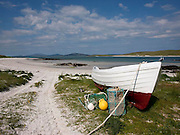 Towards South Uist from Eligarry, isle of Barra, Outer Hebrides.