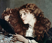 The Beautiful Irish Girl', 1866. Frank Courbet (1819-1877) French painter, Realist movement