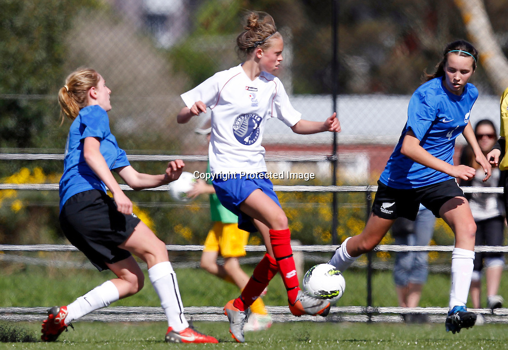 Auckland's Daisy Cleverley controls the ball. ASB National Women's Youth League, Auckland Football v Northern Conference Development, Parrs Park Oratia, Sunday 16th October 2011. Photo: Shane Wenzlick