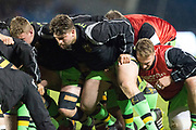 Northampton Saints go through their routines before the Aviva Premiership match between Sale Sharks and Northampton Saints at the AJ Bell Stadium, Eccles, United Kingdom on 25 November 2017. Photo by George Franks.