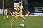 Millwall Forward, Steve Morison on the ball during the Sky Bet League 1 match between Bury and Millwall at the JD Stadium, Bury, England on 23 April 2016. Photo by Mark Pollitt.