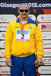 SMYRNOV Viktor UKR at 2015 IPC Swimming World Championships -  Men's 100m Backstroke S11 PODIUM