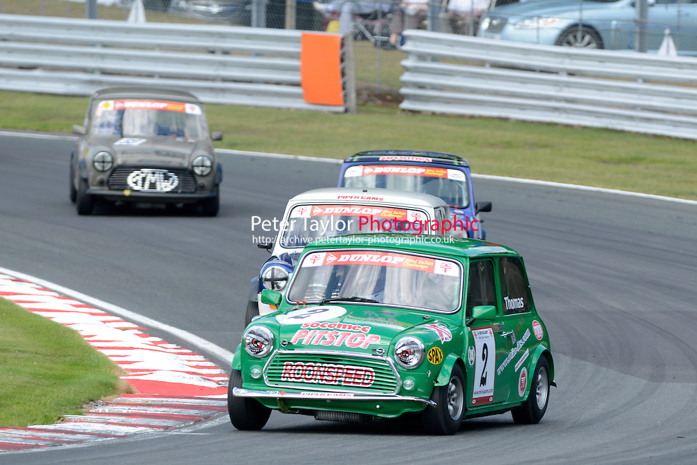 #2 Darren Thomas Mini 7during Mini Se7en - Race 1  as part of the Mini Festival  at Oulton Park, Little Budworth, Cheshire, United Kingdom. August 08 2015. World Copyright Taylor/PSP. Copy of publication required for printed pictures.  Every used picture is fee-liable. http://archive.petertaylor-photographic.co.uk