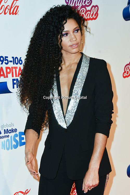 Vick Hope arrives at Capital's Jingle Bell Ball with Coca-Cola at London's O2 Arena on 9th December 2018, London, UK.