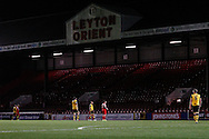 Leyton Orient play with two empty stands during the Johnstone's Paint Trophy match at the Matchroom Stadium London,<br /> Picture by David Horn/Focus Images Ltd +44 7545 970036<br /> 11/11/2014