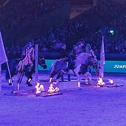 NLD/Amsterdam/20190126 - Prinses Beatrix bezoekt Jumping Amsterdam 2019, Paardenshow