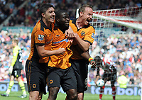 Football - Premier League - Sunderland vs Wolverhampton Wanderers<br /> George Elokobi (Wolves) celebrates a  lifeline goal at the Stadium of Light.