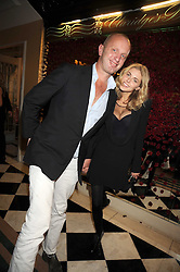 JOHNNY SHAND-KYDD and DONNA AIR at a party to celebrate the 10th Anniversary of Claridge's Bar, Claridge's Hotel, Brook Street, London on 11th November 2008.