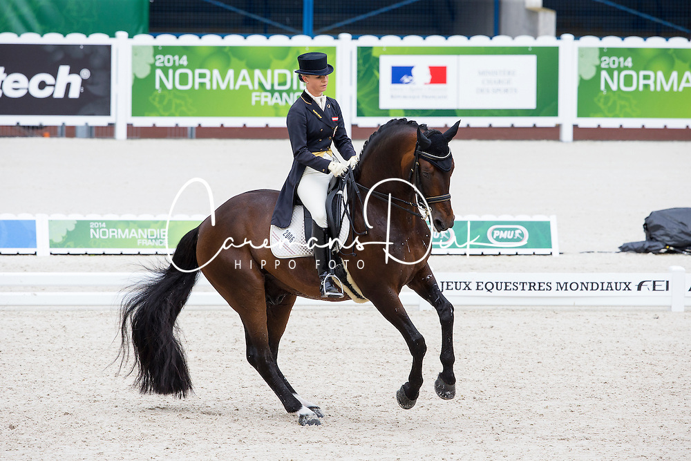 Victoria Max Theurer, (AUT), Augustin Old - Grand Prix Team Competition Dressage - Alltech FEI World Equestrian Games&trade; 2014 - Normandy, France.<br /> &copy; Hippo Foto Team - Leanjo de Koster<br /> 25/06/14