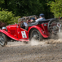 Martin Neal and Lesley Neal in their MG TA  on the Royal Automobile Club 1000 Mile Trial 2015