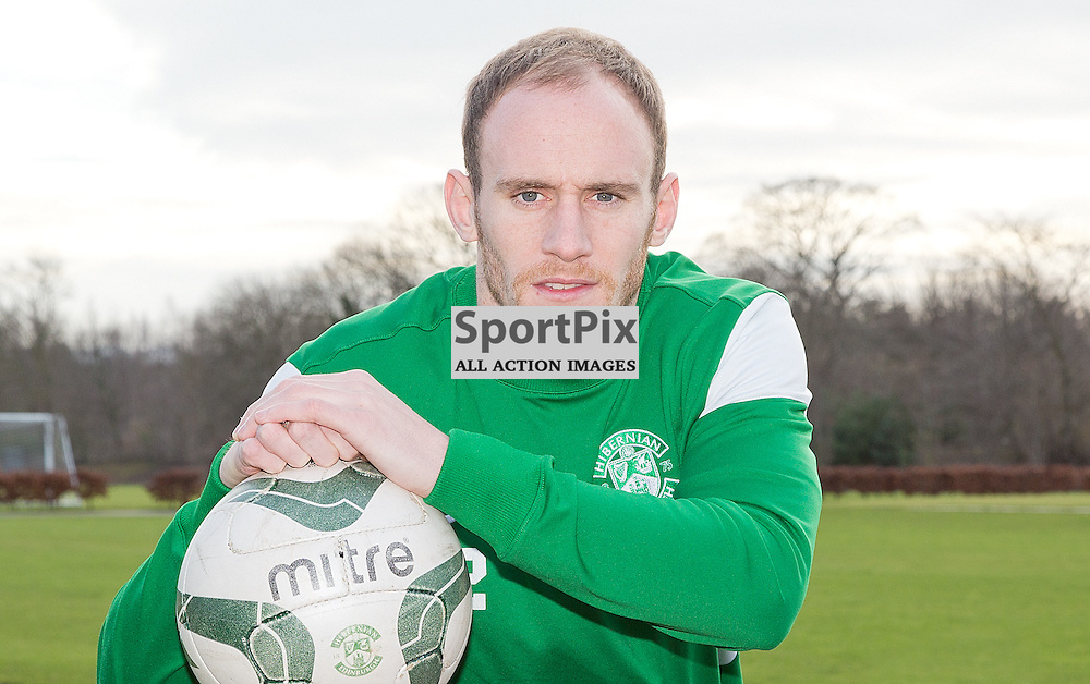 Hibernian Football Club Media Conference 30 December 2014; Hibernian's David Gray during the Hibernian Football Club Media conference at Hibernian Training Centre, Tranent to preview the club's Scottish Championship match against Hearts at Tynecastle on Saturday 3 January 2015;
