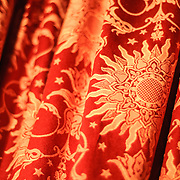 Ornate gold fabric