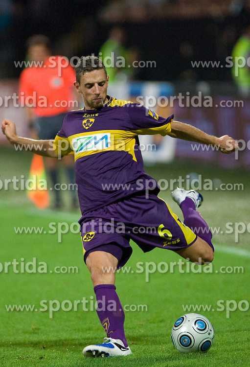 Dejan Jurkic of Maribor at Third Round of Champions League qualifications football match between NK Maribor and FC Zurich,  on August 05, 2009, in Ljudski vrt , Maribor, Slovenia. Zurich won 3:0 and qualified to next Round. (Photo by Vid Ponikvar / Sportida)