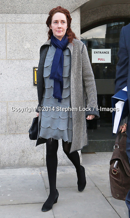Rebekah Brooks leaving the phone hacking trial at the Old Bailey in London, Friday, 21st February 2014. Picture by Stephen Lock / i-Images