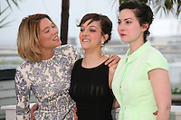 Actress Léa Seydoux, Camille Lellouche and Director Rebecca Zlotowski at the Grand Central film photocall at the Cannes Film Festival 18th May 2013