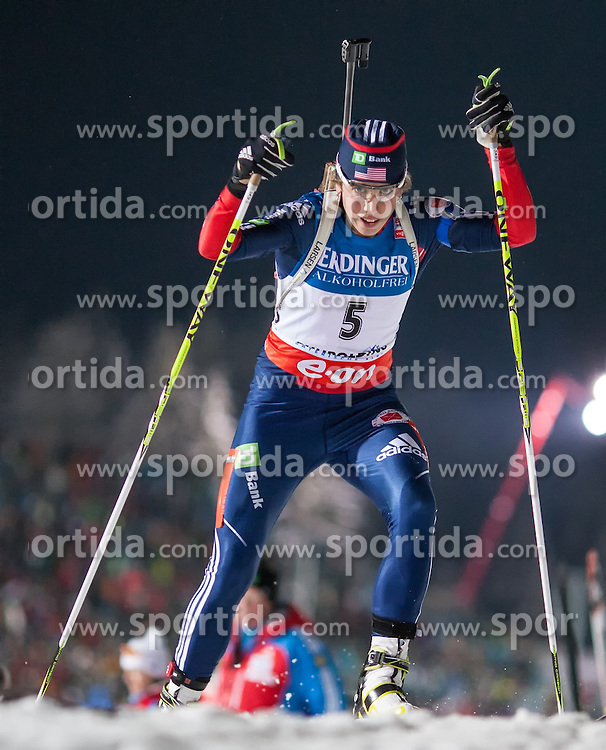 11.01.2013, Chiemgau Arena, Ruhpolding, GER, E.ON IBU Weltcup, Sprint, Damen, im Bild Susan Dunklee (USA) // Susan Dunklee of United States during Womens sprint of E.ON IBU Biathlon World Cup at the Chiemgau Arena in Ruhpolding, Germany on 2013/01/11. EXPA Pictures © 2013, PhotoCredit: EXPA/ Sven Kiesewetter