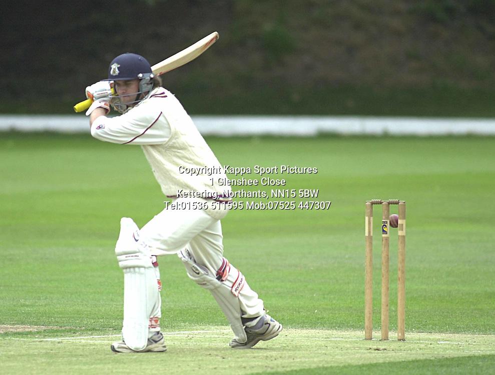 OGMS BATSMAN JOHN MANN GETS A LUCKY BOUNCE AT FINEDON 16/7/05 Cricket Cricket