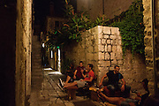 Travel in Croatia<br /> <br /> Outside of the Tri Prsuta wine bar in Hvar town on Hvar Island.<br /> <br /> June 2013<br /> Matt Lutton