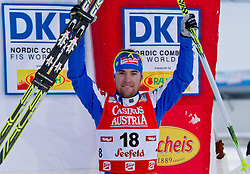 17.12.2011, Casino Arena, Seefeld, AUT, FIS Nordische Kombination, Langauf 10 km, im Bild Alessandro Pittin (ITA, 3. Platz ) // Alessandro Pittin of Italy thirt place during the cross-country skiing 10 km at FIS Nordic Combined World Cup in Sefeld, Austria on 20111211. EXPA Pictures © 2011, PhotoCredit: EXPA/ P.Rinderer