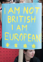 © Licensed to London News Pictures. 24/06/2016. London, UK. Pro EU students protest outside Downing Street. Prime Minister David Cameron has resigned after the UK EU referendum result was announced with a victory for the leave campaign. Photo credit: Peter Macdiarmid/LNP