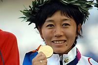 23/08/04 - ATHENS  - GREECE -  - JAPAN OLYMPIC WOMAN MARATHON  -  Olympic Stadium - CORONATION - <br />GOLD MEDAL -   N*2282 NOGUCHI MIZUKI (Japan)<br />© Gabriel Piko / Argenpress.com / Piko-Press