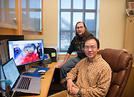 Junpeng Deng, Robert Matts, Steve Hartson, Oklahoma State University professors, are conducting cancer research at the Henry Bellman Research center on campus.