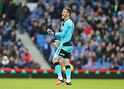 Huddersfield Town goalkeeper Jed Steer (1) during the Sky Bet Championship match between Brighton and Hove Albion and Huddersfield Town at the American Express Community Stadium, Brighton and Hove, England on 23 January 2016.