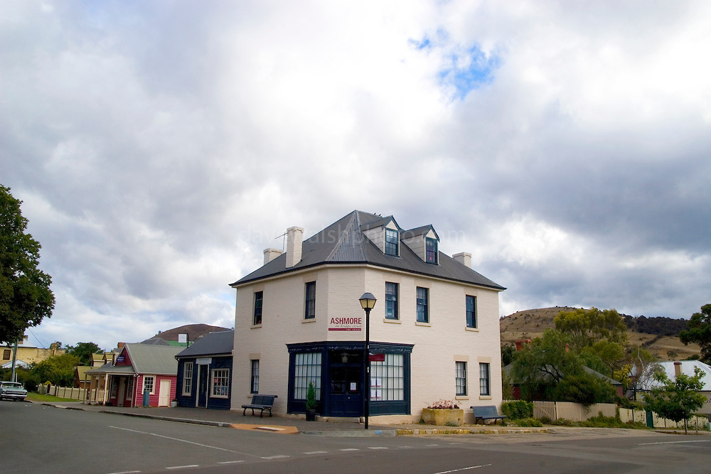 Built around 1850. Built as a general shop by William Ashmore, it was operated for many years by Miss Bentley and Miss Jacobs as a general store.  It now houses ?Ashmore Tea Rooms?. Richmond, Tasmania - the original capital of Tasmania. ..