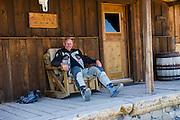 BMW Mottorad North America VP Pieter de Waal relaxing at a ghost town