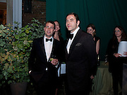 BEN GOLDSMITH; DAVID WALLIAMS, The Ormeley dinner in aid of the Ecology Trust and the Aspinall Foundation. Ormeley Lodge. Richmond. London. 29 April 2009