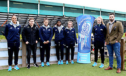 The Seven Stars Netball Team put on a workshop of Netball coaching which is visited by Tom Heathcote and Carl Kirwan of Worcester Warriors - Mandatory by-line: Robbie Stephenson/JMP - 05/03/2017 - RUGBY - Sixways Stadium - Worcester, England - Worcester Warriors v Bristol Rugby - Aviva Premiership