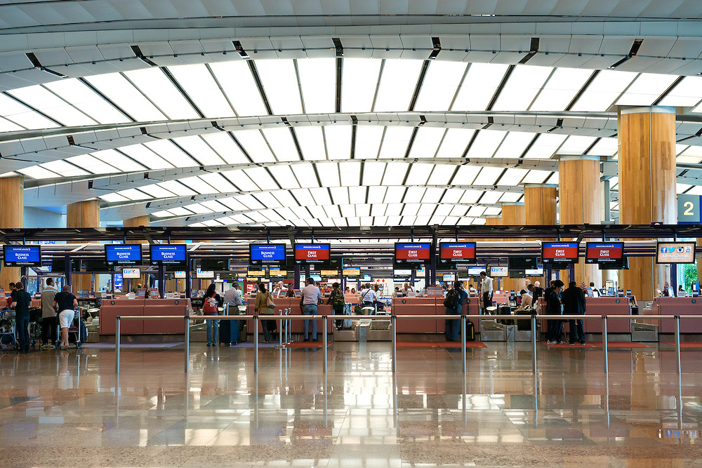 Check-in Counters at Singapore Changi International Airport Terminal 2