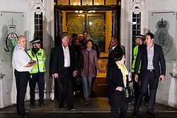 © Licensed to London News Pictures. 07/12/2016. London, UK. GINA MILLER (centre) leaves the Supreme Court in Westminster, London following day three of a hearing to appeal against a November 3 High Court ruling that Article 50 cannot be triggered without a vote in Parliament. Photo credit: Ben Cawthra/LNP