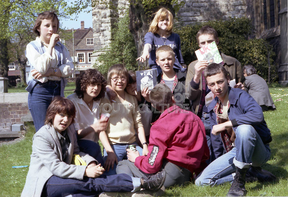 Group Outside High Wycombe Church, London. 1980s.