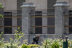 Members of the Iranian security forces are seen outside the Iranian parliament in the capital Tehran on June 7, 2017 during an attack on the complex. The Islamic State group claimed its first attacks in Iran as gunmen and suicide bombers killed at least five people in twin assaults on parliament and the tomb of the country's revolutionary founder in Tehran.PHOTO BY VAHABZADEH FARSNEWS/ PARSPIX