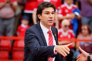 Nottingham Forest manager Aitor Karanka shaking hands before the EFL Sky Bet Championship match between Nottingham Forest and Reading at the City Ground, Nottingham, England on 11 August 2018.