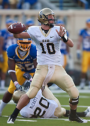 October 10, 2009; San Jose, CA, USA;  Idaho Vandals quarterback Nathan Enderle (10) throws during the first quarter against the San Jose State Spartans at Spartan Stadium.
