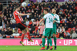 March 2, 2019 - Sunderland, England, United Kingdom - Sunderland's Will Grigg heads towards goal during the Sky Bet League 1 match between Sunderland and Plymouth Argyle at the Stadium Of Light, Sunderland on Saturday 2nd March 2019. (Credit Image: © Mi News/NurPhoto via ZUMA Press)