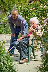 Fergus Garrett and Christopher Lloyd planting up the exotic garden at Great Dixter