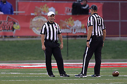 NORMAL, IL - September 08: Jeremy Valentin and Paul Janus during 107th Mid-America Classic college football game between the ISU (Illinois State University) Redbirds and the Eastern Illinois Panthers on September 08 2018 at Hancock Stadium in Normal, IL. (Photo by Alan Look)