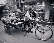 Bicycle Rickshaw, Chandni Chowk, Old Delhi, India