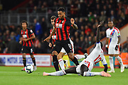 Joshua King (17) of AFC Bournemouth avoids a tackle from Mamadou Sakho (12) of Crystal Palace during the Premier League match between Bournemouth and Crystal Palace at the Vitality Stadium, Bournemouth, England on 1 October 2018.