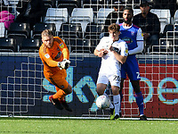 Football - 2018 / 2019 Sky Bet EFL Championship - Swansea City vs. Ipswich Town<br /> <br /> Dean Gerken of Ipswich Town saves , at The Liberty Stadium.<br /> <br /> COLORSPORT/WINSTON BYNORTH