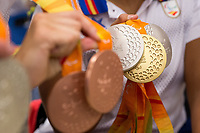 Spanish's paralympic medals arrive to Madrid Adolfo Suarez airport after the Paralympics of Rio 2016 . September 21, 2016. (ALTERPHOTOS/Rodrigo Jimenez)