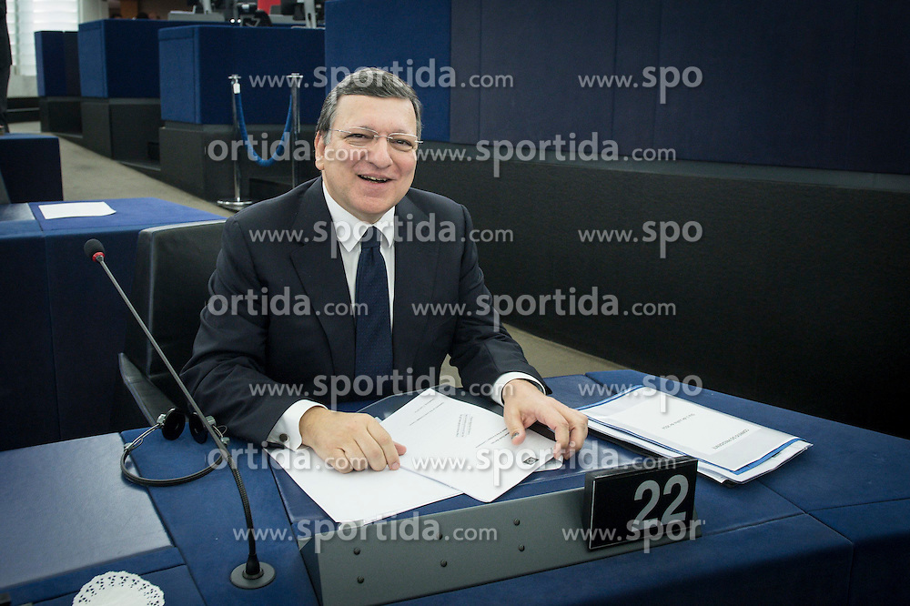 Jose Manuel Barroso, the president of the European Commission delivers a speech on the second day of plenary session at the European Parliament headquarters in Strasbourg, France on 02.07.2014. EXPA Pictures &copy; 2014, PhotoCredit: EXPA/ Photoshot/ Wiktor Dabkowski<br /> <br /> *****ATTENTION - for AUT, SLO, CRO, SRB, BIH, MAZ only*****