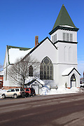 Another great story of re-purposing in the Upper Peninsula, and specifically Calumet, is that of the First Presbyterian Church, which opened in 1894. As the population of Calumet has dropped substantially after the copper boom, the congregations of many of the beautiful churches could no longer financially maintain their buildings. Some congregations consolidated; some largely disappeared. Not all of the old churches have been re-purposed, yet, but this beautiful old church now provides a home for the Calumet Art Center, which provides a learning environment for art, culture, and history for the people of the Keweenaw.