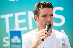 Gregor Krusic (director of Tennis Slovenia) at press conference of ATP Challenger Zavarovalnica Sava Slovenia Open 2018, on August 6, 2018 in Sports centre, Portoroz/Portorose, Slovenia. Photo by Urban Urbanc / Sportida