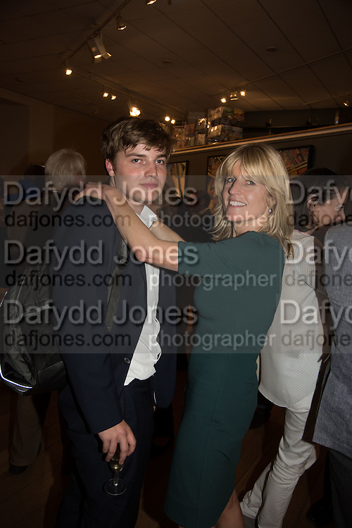 LUDO DAWNAY; RACHEL JOHNSON, Exhibition opening of paintings by Charlotte Johnson Wahl. Mall Galleries. London, 7 September 2015.