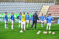 Team of Slovenia during women football match between National teams of Slovenia and Iceland in 2019 FIFA Women's World Cup qualification, on April 06, 2018 in Sportni park Lendava, Lendava, Slovenia. Photo by Mario Horvat / Sportida