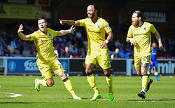 Byron Moore of Bristol Rovers celebrates. - Mandatory by-line: Alex James/JMP - 08/04/2017 - FOOTBALL - Cherry Red Records Stadium - Kingston upon Thames, England - AFC Wimbledon v Bristol Rovers - Sky Bet League One